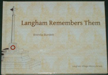 Langham Remembers Them, by Brenda Burkett